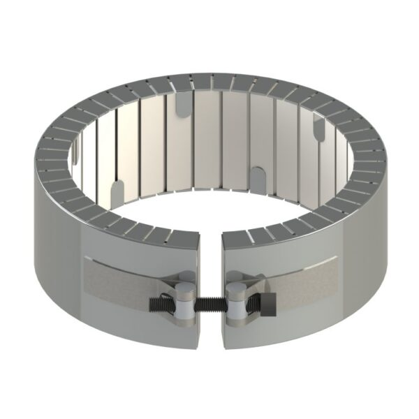 Heat and Sensor Ceramic Band Heater Strap Welded