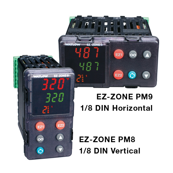 Watlow EZ-ZONE PM8 PM9 1/8 DIN Controllers