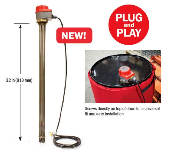 BriskHeat Drum Immersion Heater