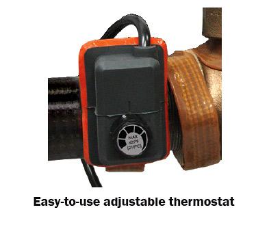 BriskHeat Pipe Heating Tape Adjustable Thermostat